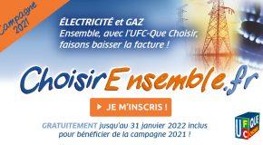 La campagne « Energie moins chère ensemble 2021 » reportée